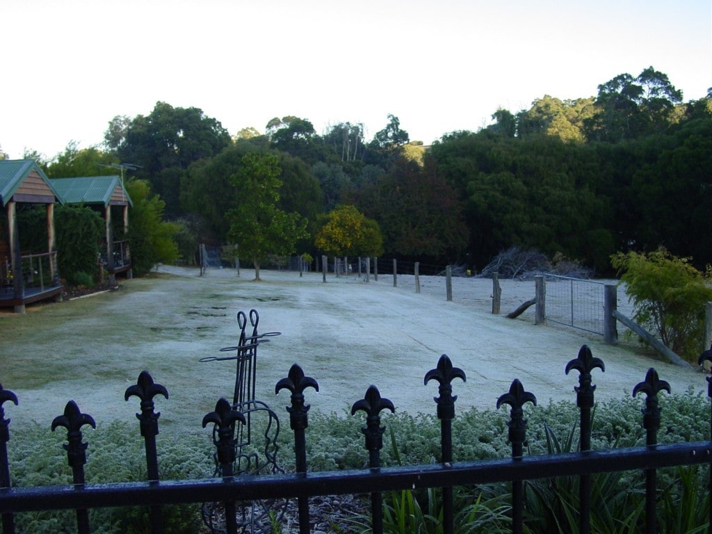 Frosty Morning at Peppermint Lane Lodge